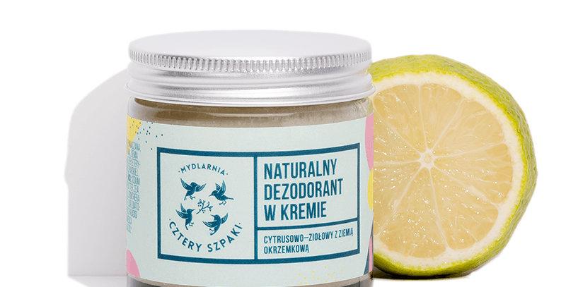 Naturalny dezodorant w kremie 4 Szpaki cytrusowy