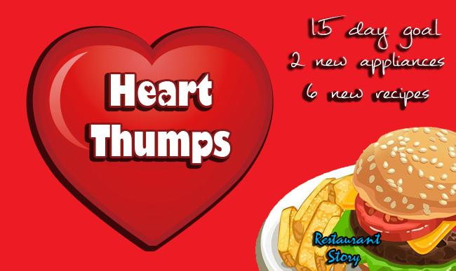 Restaurant Story Heart Thumps Goal