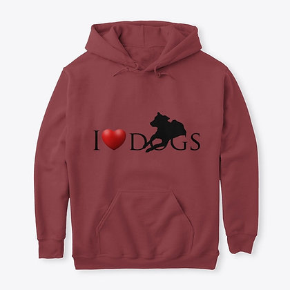 I Love Dogs - Pullover Hoodie