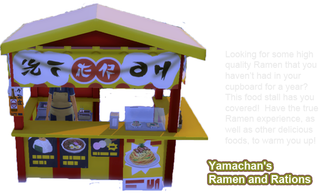 sims 4 snowy escape food stall Yamachan's Ramen and Rations