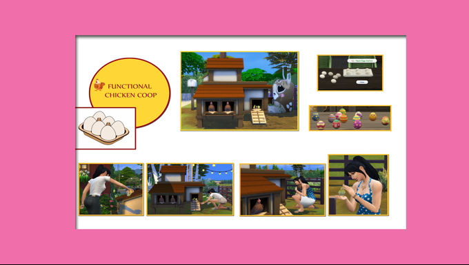 The Sims 4 CC Chicken Coop