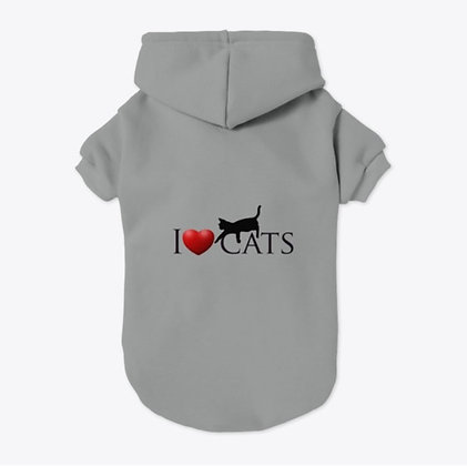 I love Cats - Pet Hoodie