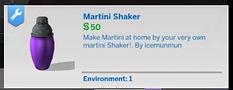 The Sims 4 CC Martini Shaker