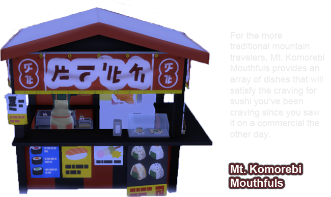 sims 4snowy escape food stall Mt. Komorebi Mouthfuls