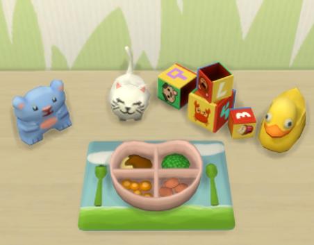 Sims 4 Custom Food Toddler Ham Dinner