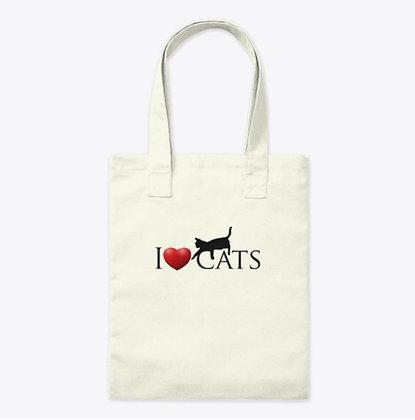 I Love Cats - Organic Tate Bag