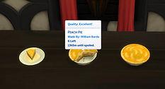 Sims 4 Custom Food Peach Pie