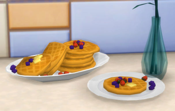 Sims 4 Custom Food Berry Belgian Waffle