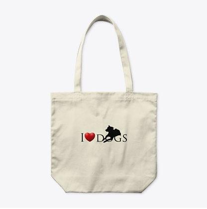 I Love Dogs - Organic Tate Bag