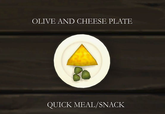 Sims 4 Custom Food Olive Cheese Plate