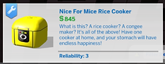 The Sims 4 CC Rice Cooker