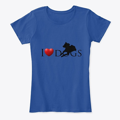 I Love Dogs - Women's Comfort Tee