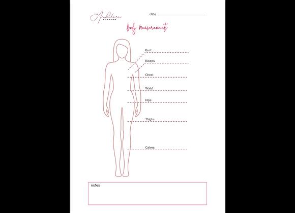 Body Measurements | A5 Insert