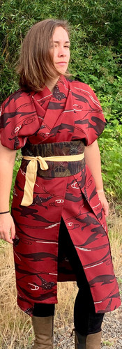 ILong Silk Vest with Obi Sash