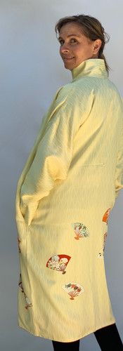 Furisode Yellow Long Coat