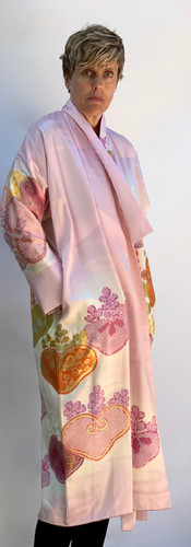 Furisode Long Pink Coat