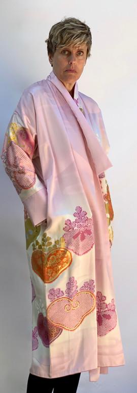 Furisode Long Pink Coat