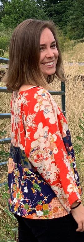 Multi Pattern Silk Top