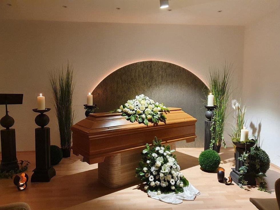 Trauerhalle bei Zocher Bestattungen in Wuppertal