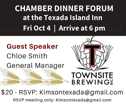 Chamber Dinner, Townsite Brewing - Oct 2