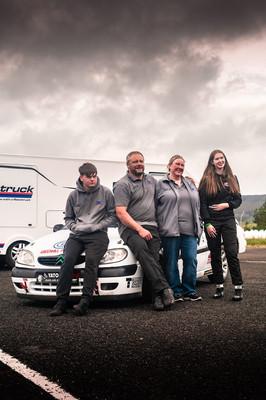 Citroen Saxo Greenhill Performance team with Arwen poster.jpg