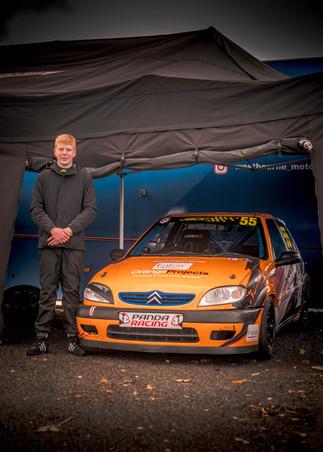 Citroen Saxo Orange with driver poster.j