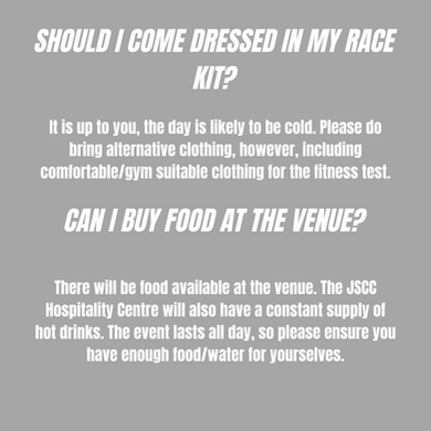 Do I need my own race kit No. If you do not have any race kit, please come in comfortable