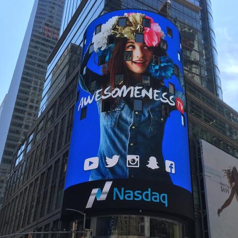 Billboard Times Square  I   AWESOMENESSTV