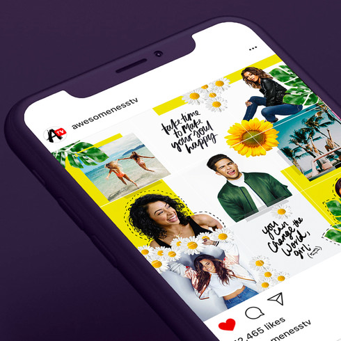 Instagram Mosaic - April AwesomenessTV Feed