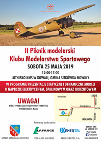 II PIKNIK MODELARSKI   25 maj 2019 na lotnisku KMS w Kielcach