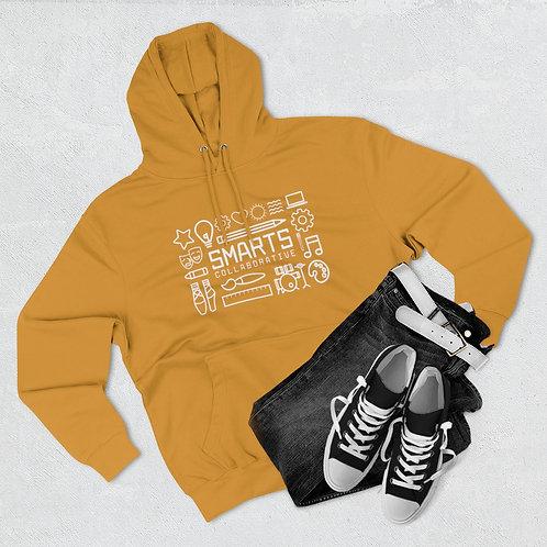 SMARTS Adult Unisex Premium Pullover Hoodie - White text
