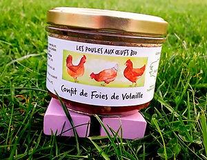 Confit de Foies de Volaille Bio Bretagne