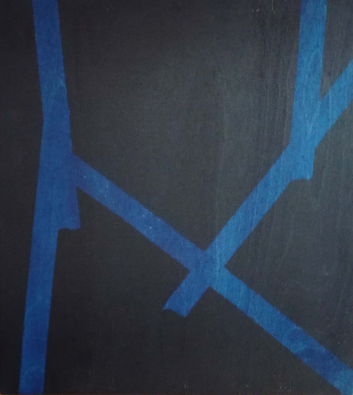 Erik Haemers Wood encre blue edge lines02