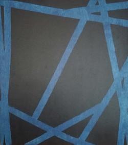 Erik Haemers Wood encre blue edge lines