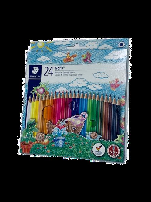 סט 24 עפרון צבעוני שטדלר STAEDLER