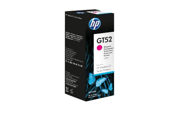 בקבוק דיו מקורי HP GT 52M אדום