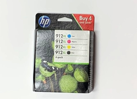 סט 4 ראשי דיו מקורי HP 912XL