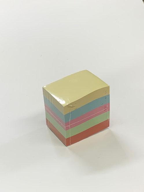 """מזכריות דביקות בצבעים פסטליים - 38/51 מ""""מ  - 500 דף"""