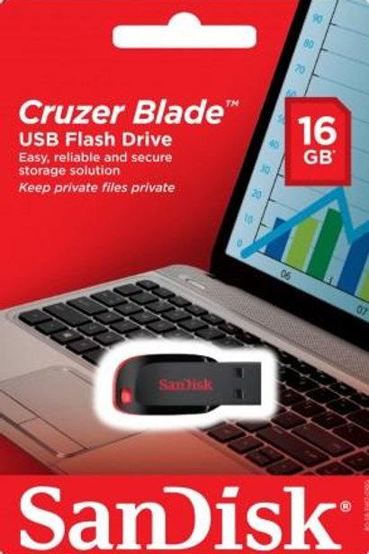 Sandisk Usb Blade Z50 16Gb זיכרון נייד