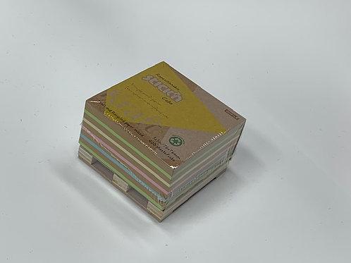 """מזכריות דביקות נייר ממוחזר - 76/76 מ""""מ  - 400 דף"""