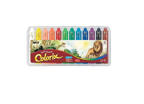 סט 12 צבעי פסטל אקוורל - קולוריקס COLORIX CRAYON