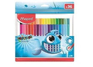 סט 36 טושים צבעוניים Maped Colorpeps