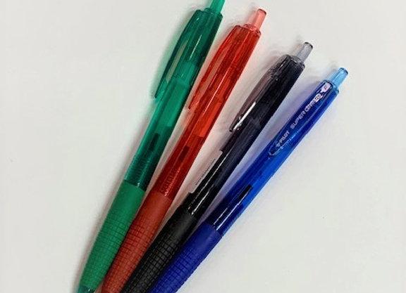 עט פיילוט כדורי עם לחצן Pilot Super Grip G M 1.0