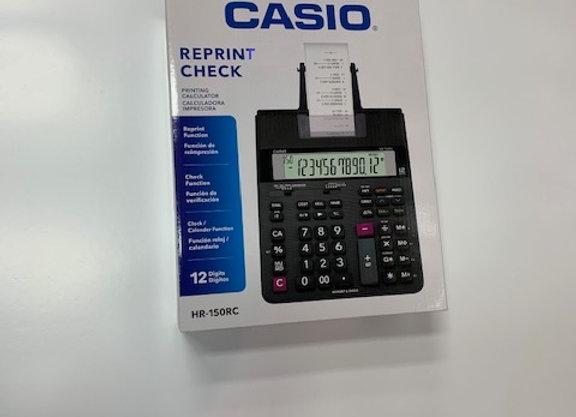 מכונת חישוב CASIO HR-150RC