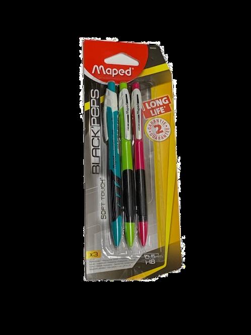 סט 3 עפרון מכני 0.5 Maped