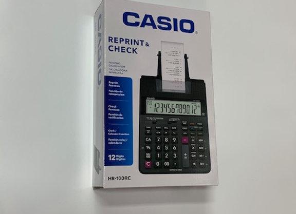 מכונת חישוב CASIO HR-100RC