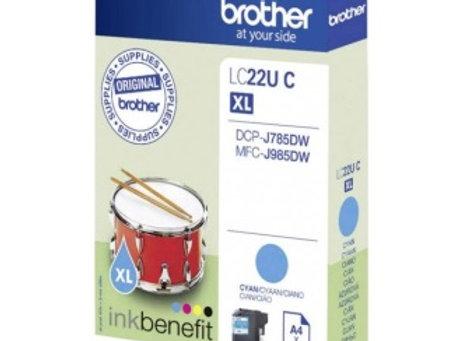 דיו מקורי BROTHER LC22U C כחול