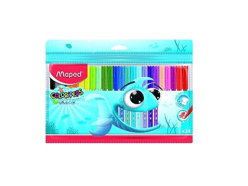 סט 24 טושים צבעוניים Maped Colorpeps