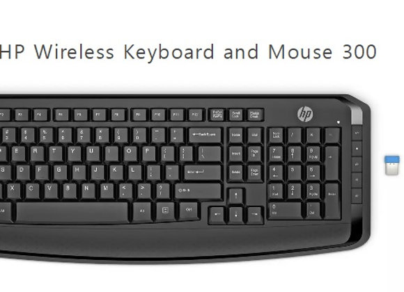 סט מקלדת + עכבר HP Wireless Keyboard And Mouse