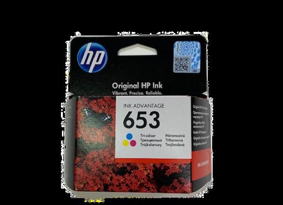 דיו מקורי HP 653 צבעוני